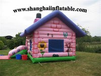 big bounce trampolines - 2016 best quality large trampoline big pink inflatable bounce house