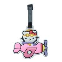 Hello-Kitty Рисунок багажную бирку чемодан ID путешествия TAGS