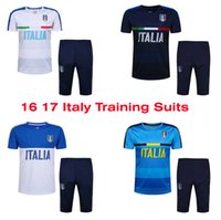 athletic suits - Benwon Italys training suits Italia short sleeve outdoor soccer tracksuits athletic training football kits thai quality sports sets