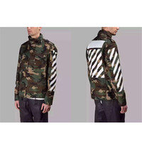 Wholesale Spring Military Jacket Men - OFF WHITE Brand New High Quality Camouflage Jacket Men Spring Autumn Winbreak Jacket Coat Mens Outwear Army Military Coats S-XL