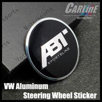 abt gti - MIX VW GTI WOLFBURGE R Rline ABT Rabbit Crystal Steering Wheel Badge Emblem Sticker Golf CL02