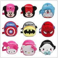 Wholesale C7 models Birthday gift toy Messenger Bag school bag for boy girl Cartoon kindergarten Plush children Kid mochilas infantis
