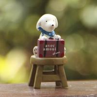 art sites - 1pcs Dog Siting Mini Statue Fairy Garden Miniatures Resin Craft Terrarium Figurines Tonsai Tools Gnomes Zakka Home Accessories