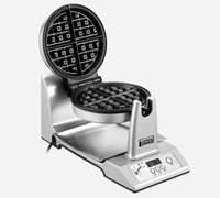 Wholesale One touch LCD portable high quality fully automatic waffle maker rotating intelligent household electrical Waffle machine