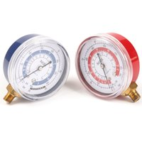 air conditioner pressure - gauge manometer pics Air Conditioner R410A R134A R22 Refrigerant Low amp High Pressure Brass Manifold Gauge PSI KPA