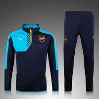 arsenal soccer clothing - New style Arsenal soccer training clothes sweater coat men kids long sleeved Set autumn winter Soccer Jerseys sport Soccer Uniforms
