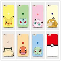 Wholesale Hot sale Poke go case iphone s cases Waterproof Pikachu iphone cases covers for iphone s SE s plus free DHL