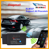 Wholesale New Diagmall OBD2 Scanner ELM327 V2 Bluetooth OBDII Code Reader Diagnostic Tool Works ON Android Torque PC