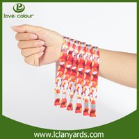Wholesale heat transfer wristband Custom logo polyester Party VIP wristbands music show VIP wristband one time use wristband