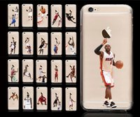 Wholesale Star Phone Case USA Basketball Sport Character Matte PC Hard Back Case Cover for iPhone s Plus