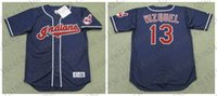 Wholesale Custom OMAR VIZQUEL VAUGHN Baseball jersey ALBERT BELLE WILLIE MAYS HAYES KENNY LOFTON jersey White Navy Mens Stitched jerseys