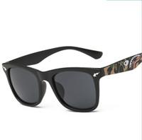 Wholesale 2016 square dazzle colour sunglasses fashion sunglasses camouflage shark glasses sunglasses delivered free men and women travel