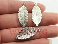 Wholesale WYSIWYG mm antique silver leaf charms