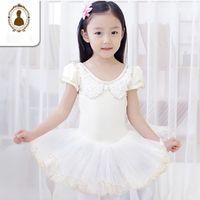 Wholesale Ballet Dress For Children Bow Classical Short Sleeve Age Swan Lake Ballet Dance Dresses Girls Tutu Ballet Dancing Costume