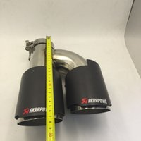 Wholesale Longshort dual version inlet60mm outlet101mm for AKRAPOVIC carbon fiber exhaust tip exhaust pipe muffler