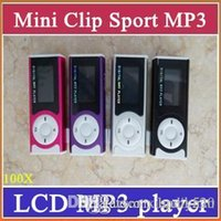 Wholesale 100x Clip MP3 Sport Music player With LCD Screen Support Micro TF SD Memory Card USB Cables Earphones Come With Crystal Retail Boxes MP