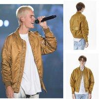 Wholesale Men s FEAR OF GOD Jackets Justin Bieber Oversize Bomber Jacket Hip Hop Varsity Man Baseketball Man Jacket Fashion Clothing Fall Winter Coats