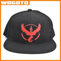 adult team games - Cosplay Mobile game mon Poke Go Team Valor hat Poke Team Mystic Team Instinct snapback baseball Cap hat