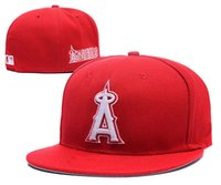 angels fitted hats - New Los Angeles Angels Baseball Cap Embroidery Logo Cooperstown Fitted Hats Adult Fit Sports Cap