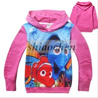 baby clown fish - 2016 Kids Finding Dory Coat Nemo Dory Hoodies Girl Finding Dory Jacket Baby Clown Fish Sweatshirts Nemo Dory Outwear Baby Clothing B295
