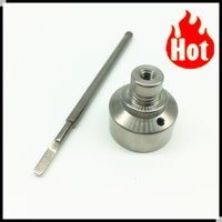 angle machine - best price gr2 titanium one angled hole Carb Cap Set Point Tip Flat Tip Dabber