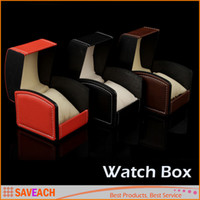 Wholesale PU Leather Watch Box Gift Boxes Watch Case with Pillow Watch Packaging For Bangle Ring Earrings Wrist Watches Box