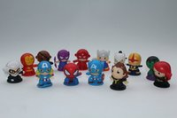 Wholesale 2016 New Arrive cm Superhero Series PVC Figure Iron Man Doll Marvel Toy For Kids Gift Random Delivery F