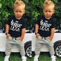 baby clothing fabric - New Summer style sports suit fashion baby boy clothing set Soft Breathable Modal Fabric kids boys tracksuit piece set