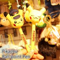 ball point game - Pikachu Pikachu ball point pen cm Poke plush toys cartoon poke Stuffed animals toys soft Christmas toys best Gifts B0461