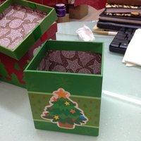 Wholesale Christmas decoration Plated pendant dusting gift box Chrismas Tree Snowman Candy Gift Box Merry Chrismas Wedding Favors Boxes