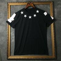 Wholesale brand tag fashion clothing men short sleeve t shirt kanye west t shirt star print tshirt Camiseta tee tops europe