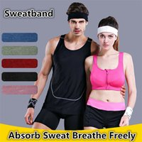 Wholesale New Sports Safety Breathable Exercise Sweatband Cotton Elastic Headband Outdoor Running Cycling outdoors sports Accessories C0014