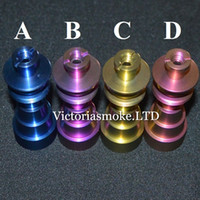 Wholesale New Arrival Colored titanium nails mm mm mm mm with male and female joint Titanium Nails Smoking Glass Bongs ecigs