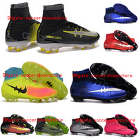 ag solid - New Kids soccer shoes cr7 children youth soccer cleats mercurial superfly FG AG TF Indoor Mens Women Football Boots Magista Obra Orden II