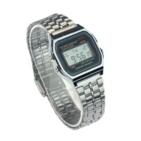 alarm business - Business golden gold watch Coperation Vine Womens Men dress watch Stainless Steel Digital Alarm Stopwatch Wrist Watch Zina