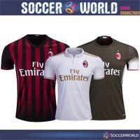 Wholesale Top thai quality Ac Milan soccer jerseys Ac Milan shirts BACCA Home shirt Ac Milan away Third football shirts