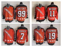 Wholesale Cheap Hockey Jersey All Star Campbell Steve Yzerman Mark Messier Wayne Gretzky Paul Coffey CCM Throwback Stitched Name