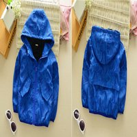 Wholesale DHL free kids boys fashion blue hoody jacket autumn spring casual children clothing coat for Y best gift