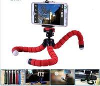 Teléfono celular soportes de coches soporte para teléfono trípode flexible del pulpo del soporte Montaje del soporte selfie Monopod labra los accesorios para la cámara del teléfono móvil