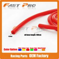 atv oil - High Quality Red Motorcycle Dirt Bike ATV Oil Hose Fuel Line Hose Tube Oil Pipeline