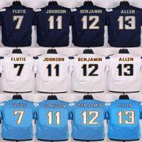allen sports - Men s Jersey Keenan Allen Doug Flutie Stevie Johnson Travis Benjamin Navy blue Light Blue White elite Jerseys sports we