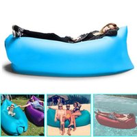 beach folding chairs - Infaltable Sleep Bag Folding Sofa Beach Sleep Bed Camping Sleeping Air Sofa Lazy Chair Ourdoor fast inflatable lamzac Camp Furniture DHL