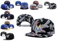 baseball bars - A Detroit Kansas Miami Milwaukee Hiphop Snapback Adjustable Caps Hats Baseball Women Men Sports Marlins Brewers