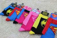 batman superman cartoon - Superman Batman Classical Cartoon superhero Personalized Cloak cotton Socks Summer Style Family Cosplay Long socks children soccer crew sock