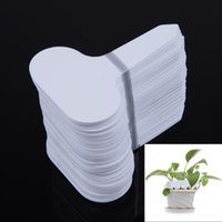 Wholesale T type Plastic Nursery Garden Plant Label Flower Thick Tag Mark White Brand New