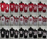 Wholesale 32 Tyrann Mathieu Larry Fitzgerald David Johnson Patrick Peterson Carson Palmer White Red Black New Football Jerseys