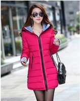 big blue worsted - Winter coat Slim Down Girls long section of thicker big yards fashion Korean women coat tide students