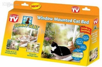 bedding boxes - 24pcs Hot selling New Window Mount Cat Bed Pet Hammock Sunny Seat Pet Beds With Color Box Package