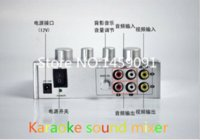 Wholesale 1PC HD N1 Silver Karaoke mixer high quality Karaoke sound mixer Echo Mixer Sing NB Laptop DVD Player