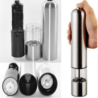Wholesale 2016 hot Stainless Steel Electric Salt Pepper Mill Spice Grinder Muller Kitchen Tool